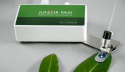 JUNIOR-PAM with 60° leaf-clip mounted on swivel-type support