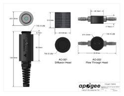 Apogee Soil Oxygen Sensor SO-200 Series